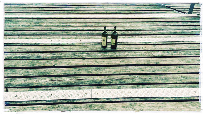 Bottle Bottles Horizontal Symmetry Morning After Wood Wood - Material Wooden Horizontal Lines