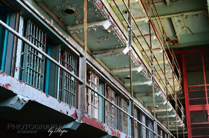 West Virginia Penitentiary Architecture Prison Cage Crime Law West Virginia Jail Jailed Behind Bars Locked Up Cell Block Cell Photography Creepy Haunted Ghost Orbs Old Abandoned Old Buildings Chipping Paint History
