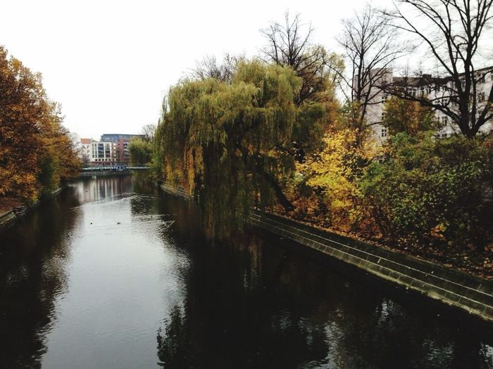 River Berlin Sprea Germany Me Around The World Nature Trees Cloudy Day Traveling Europe Riverside