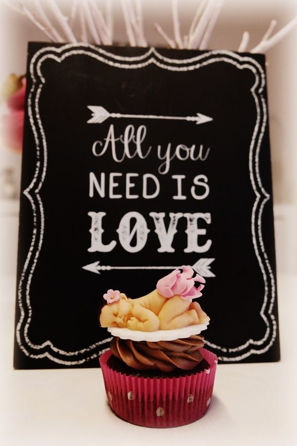 Girl Sweet Love Pink Tortenpost Baby Cupcakes Babyparty