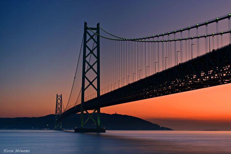 Sunset Bridge The Week On EyeEm EyeEm Team EyeEm Best Shots EyeEmNewHere Landscape Japan Long Exposure 明石海峡大橋
