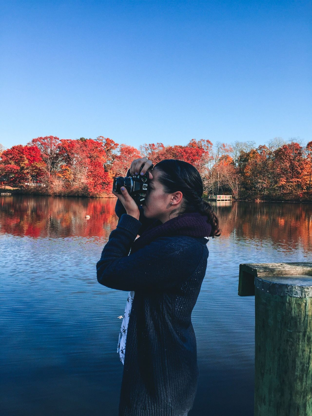 Beautiful stock photos of photographer, Asian And Indian Ethnicities, Autumn, Beauty In Nature, Blue