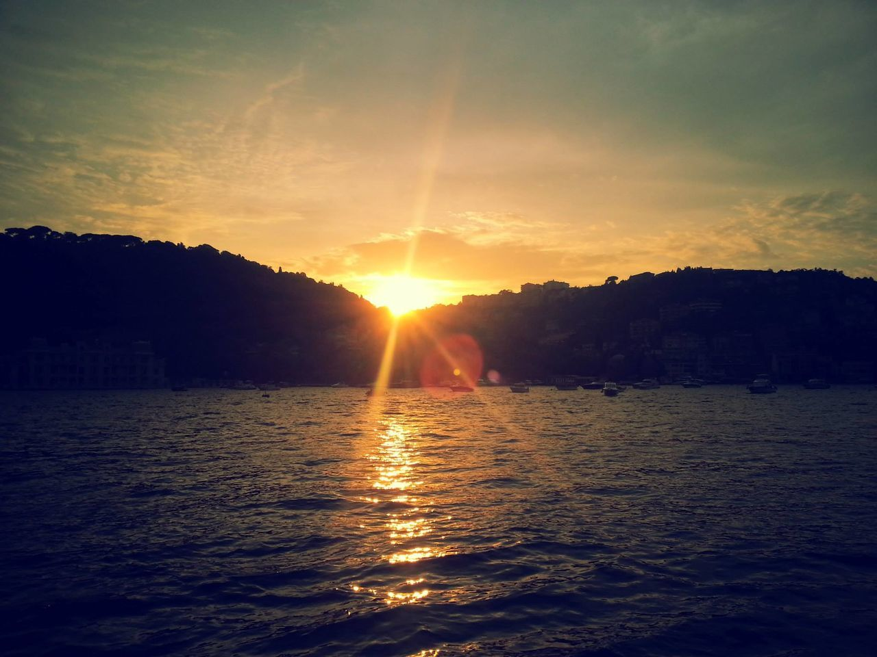 a beautiful sunset in istanbul the bosphorus Scenics