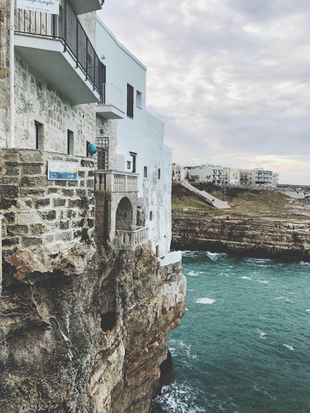 Polignano a Mare, Puglia (Italy). January 2017. Architecture Water Building Exterior Sky Day Outdoors No People Sea Italy Italia Puglia