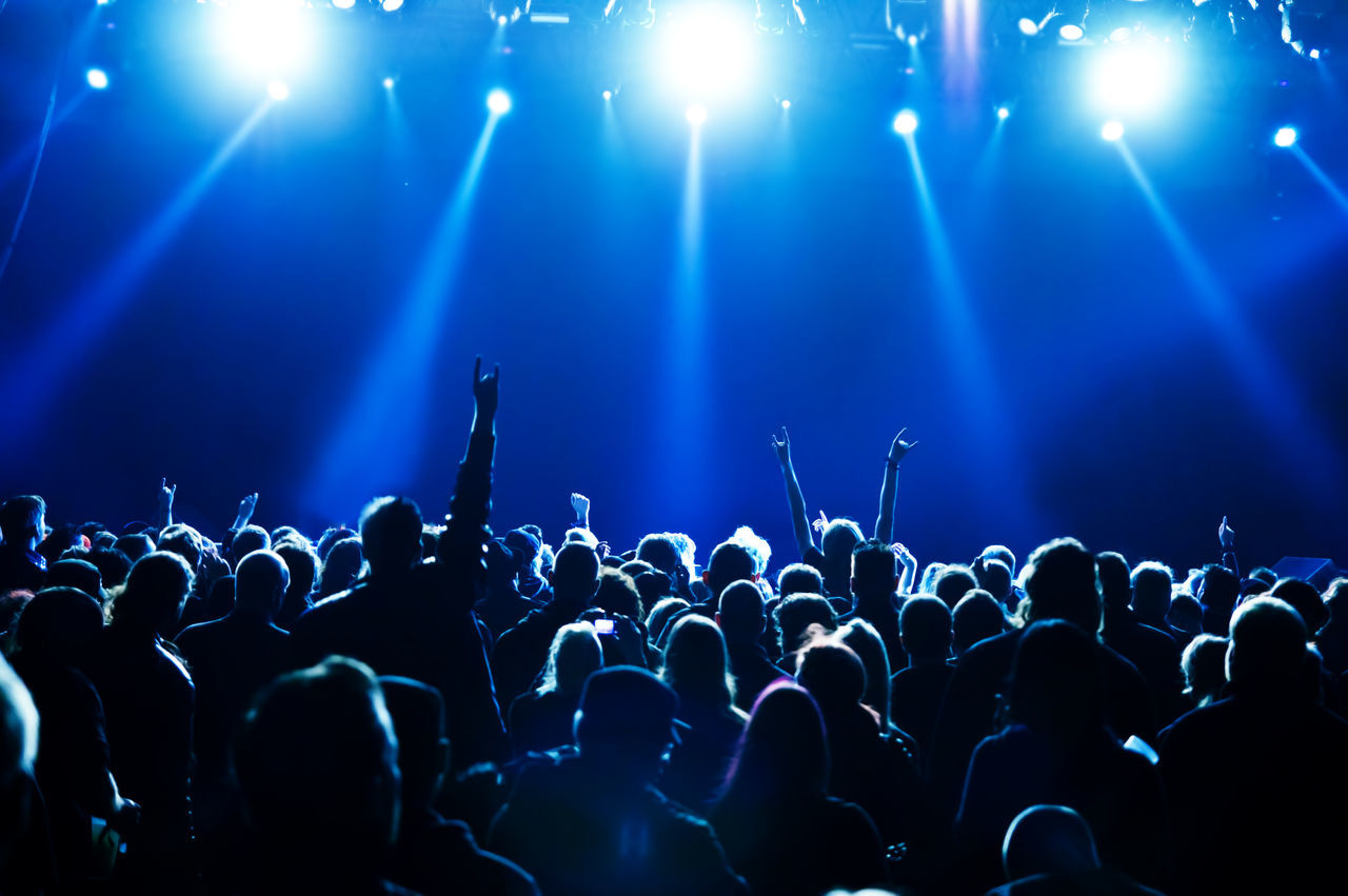 Beautiful stock photos of music, Arms Raised, Arts Culture And Entertainment, Audience, Carefree