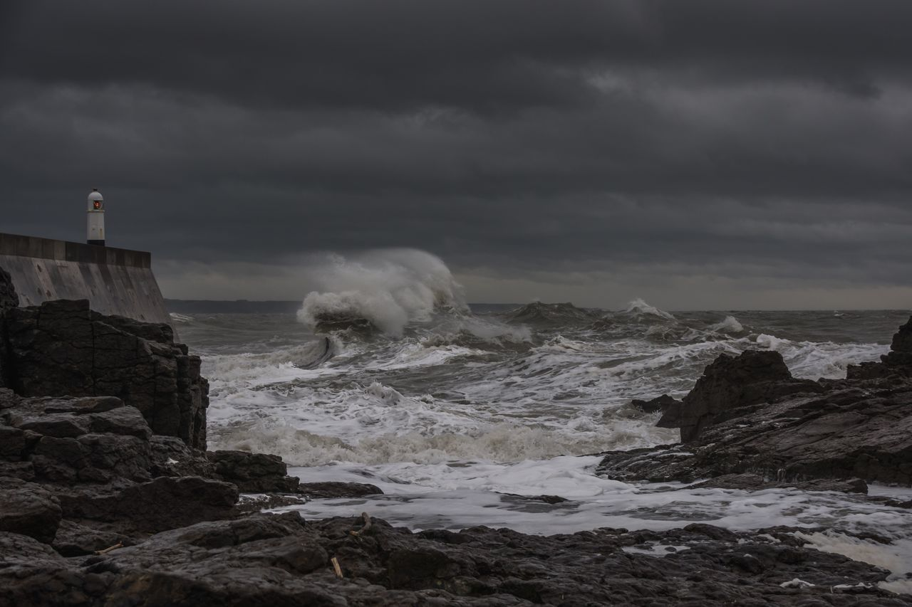 Rough seas. Landscape Power In Nature Sea Landscape_photography Nikon South Wales Seaside