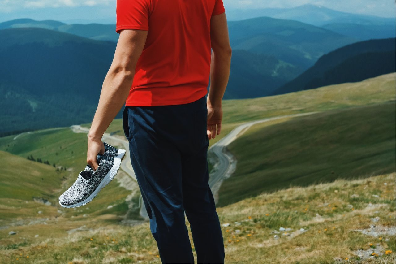 Noiseless... Mountain Mountain Range Nature Casual Clothing Leisure Activity Outdoors Lifestyles Landscape Sportsman Standing Adventure Beauty In Nature Low Section Sports Shoe Sports Clothing Comfortable Snickers Comfy  Details Of My Life Shoe VSCO Made In Romania Hiking Travel Tourism Out Of The Box The Great Outdoors - 2017 EyeEm Awards