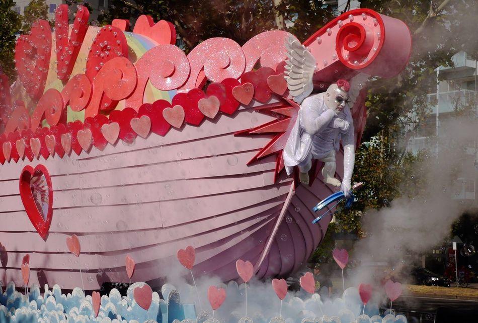 EyeEm Best Shots Red Outdoors Street Photography Streetphotography Australia Streetphotography Summer Memories 🌄 Festival Festival Season Pink Carnival Love Red Smoke Bubbles Millennial Pink