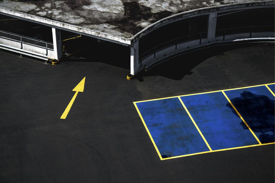Architecture Arrow Arrow Symbol Built Structure Direction Guidance No People Parking Garage Parking Lot Sign Resist