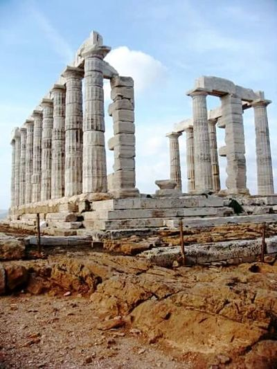 History Ancient Outdoors Monument Souniongreece Dayforwalking Daytrip Admiring The Architecture  Place Of Worship Sounio Admiring The View Archaeology