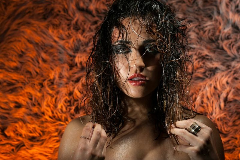 End of shoot shenanigans. Check This Out Fire Wet Color Portrait Taking Photos Attitude Strobist Me, My Camera And I Photoshoot Modeling Makeup and hair by Camillia Makeup