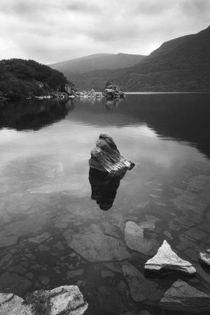 Beauty In Nature Black And White Clear Water Eire EyeEmNewHere Ireland Killarney  Killarney National Park Lake Monochrome Mountain Nature No People Outdoors Overcast Rocks And Water Scenics Tranquil Scene Tranquility Water