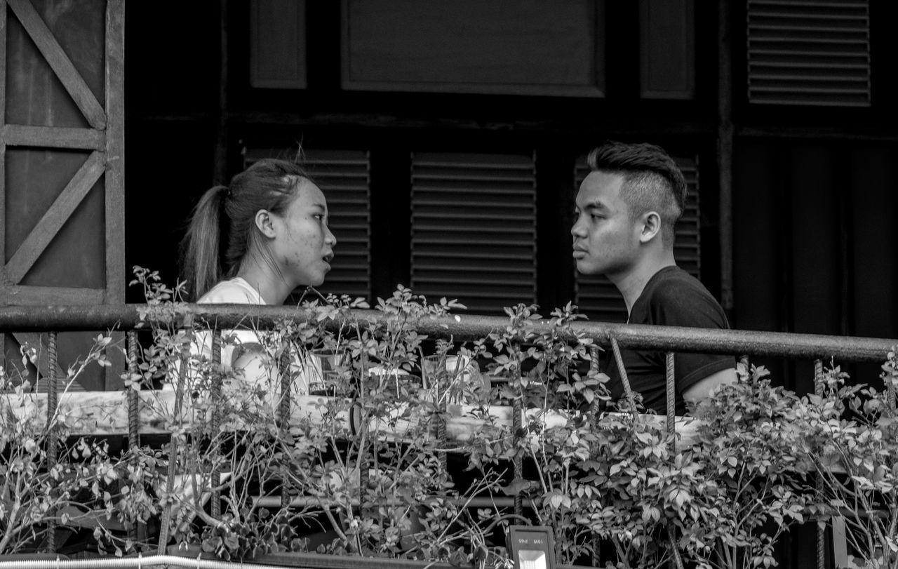 Couple, Hoan Kiem, Hanoi Two People Togetherness Street City Urban Vietnam Hoàn Kiếm Black And White Monochrome Photography FUJIFILM X-T2 Blackandwhite