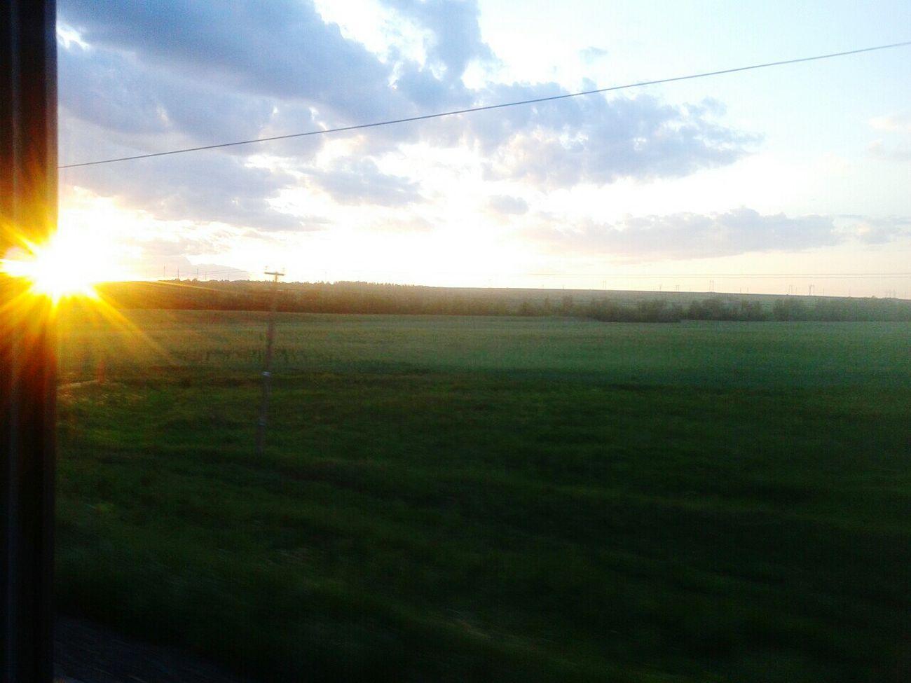 Закат в дороге мобильник прекрасныйвид