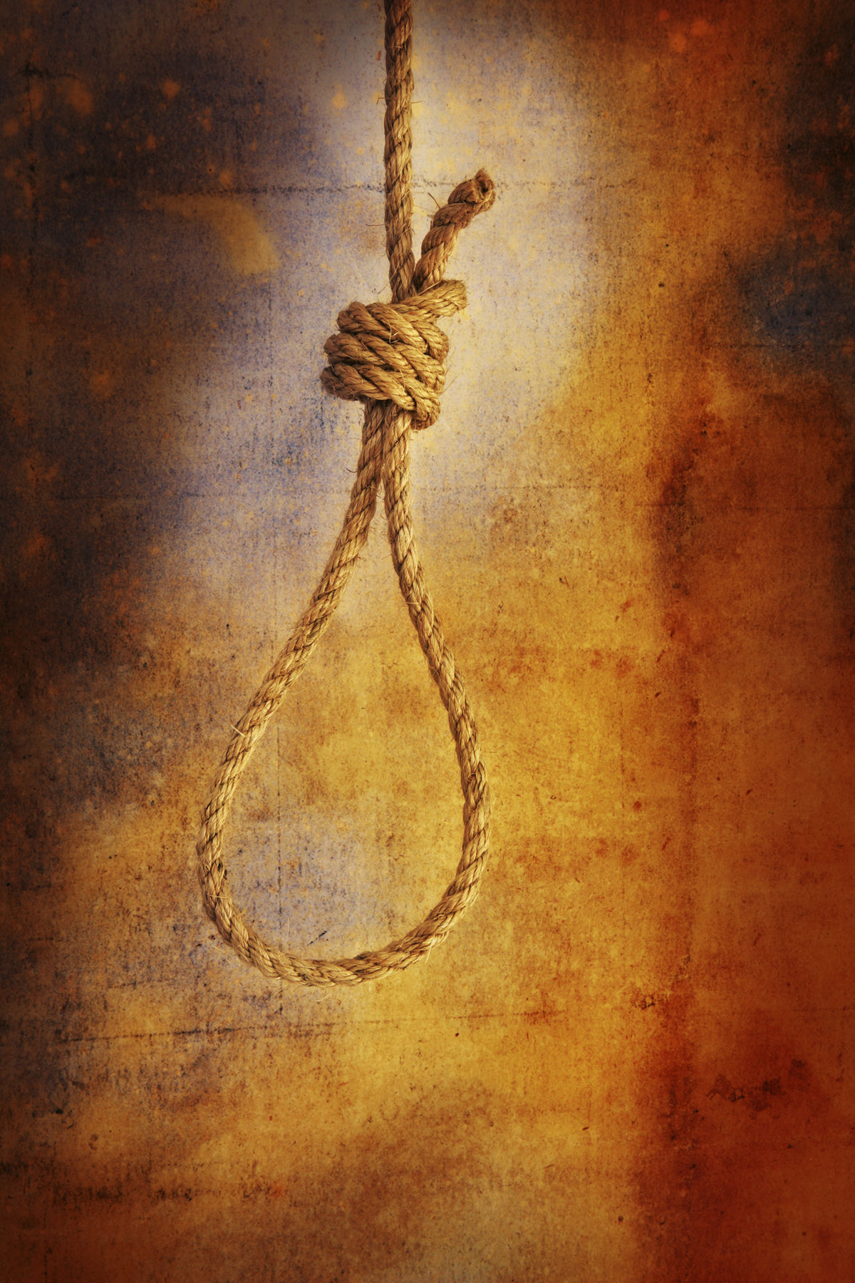 Noose on grunge background - vertical Bright Close-up Day Execution Grunge Hanging Hangman Hangman's Knot Knot No People Noose Rope Suicide