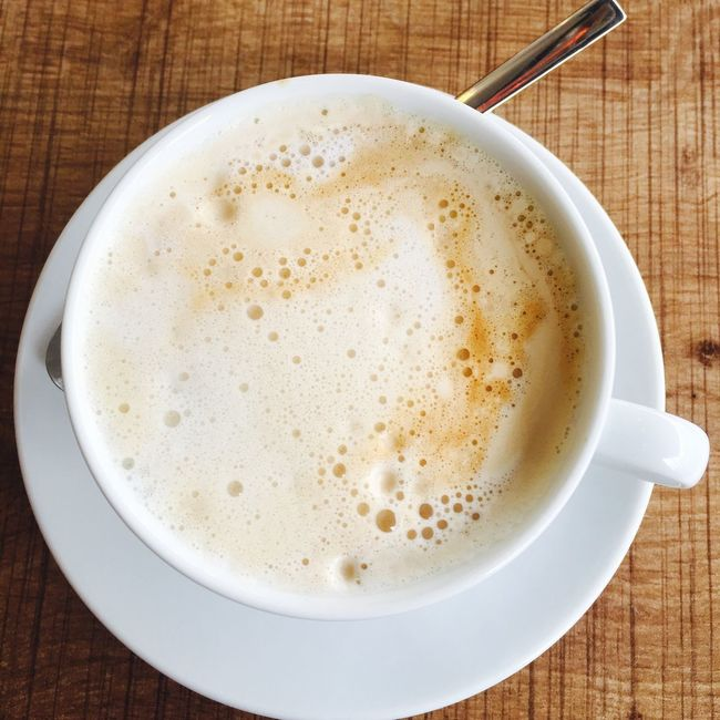 Coffee Cup Drink Coffee - Drink Frothy Drink Food And Drink Cappuccino Table Directly Above No People Close-up Refreshment Indoors  Froth Art Froth Latte Freshness Horizontal Day
