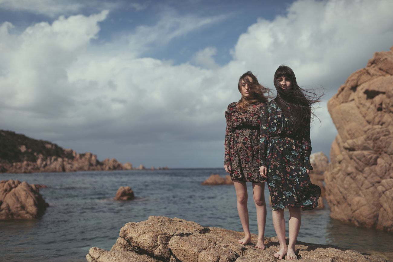 Sons of wind. Ilaria and Alice living the landscape. Real People Sky Two People Cloud - Sky Sea Water Nature Freedom Earth The Great Outdoors - 2017 EyeEm Awards EyeEm Nature Lover EyeEm Best Shots EyeEmNewHere EyeEm Gallery Italy Landscape The Portraitist - 2017 EyeEm Awards Portrait Of A Woman Portrait Sardegna Beauty In Nature EyeEmNewHere The Portraitist - 2017 EyeEm Awards