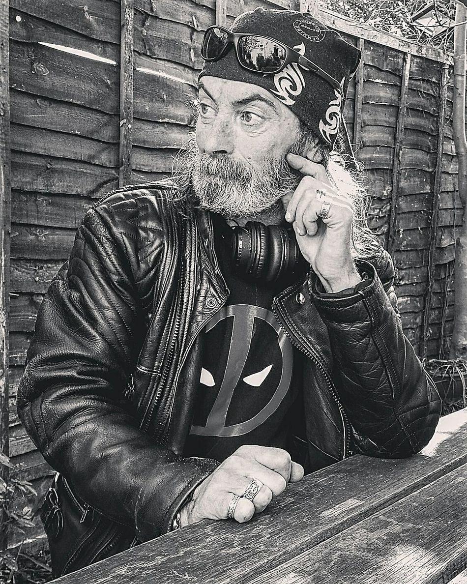 Daryl xxxxxxx Nefilian Xxxxxxx Bikers Cans Deadpool Leather Jacket Bandana Blakck And White X