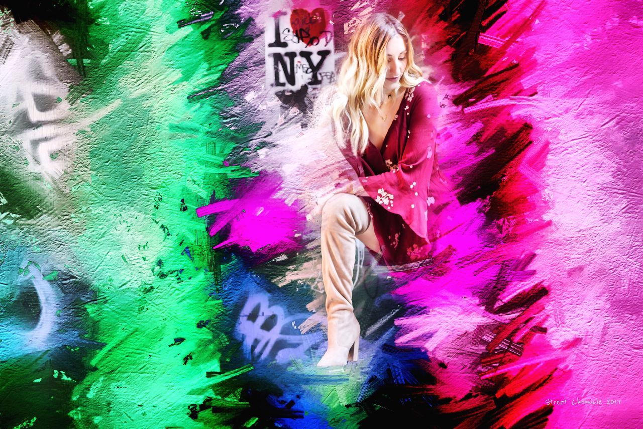 Multi Colored One Person Women Adult Motion Adults Only People One Woman Only Only Women Performance Day Young Adult Outdoors Digital Art Artistic Art, Drawing, Creativity Lifestyle Arts Culture And Entertainment Style Art Gallery Fashion Artist Art NYC Lifestyles