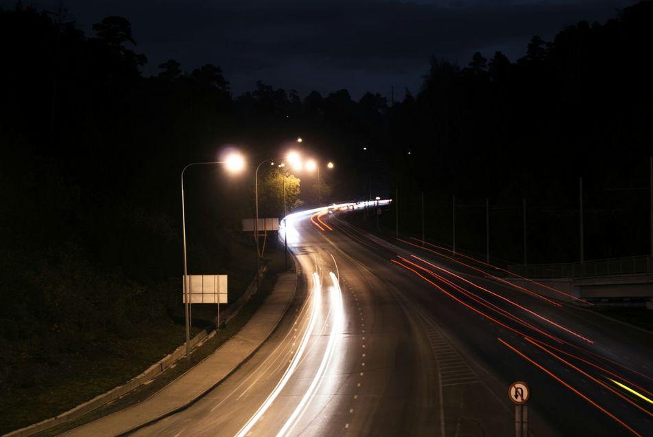 Long Exposure Night Lights Road City Light And Shadow Night Nightphotography Urban Kuzbass I Love My City