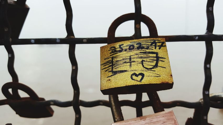 Love is gone Love Padlock's Bridge Shattered Dreams Security Hanging Lock Padlock Day No People Outdoors Close-up