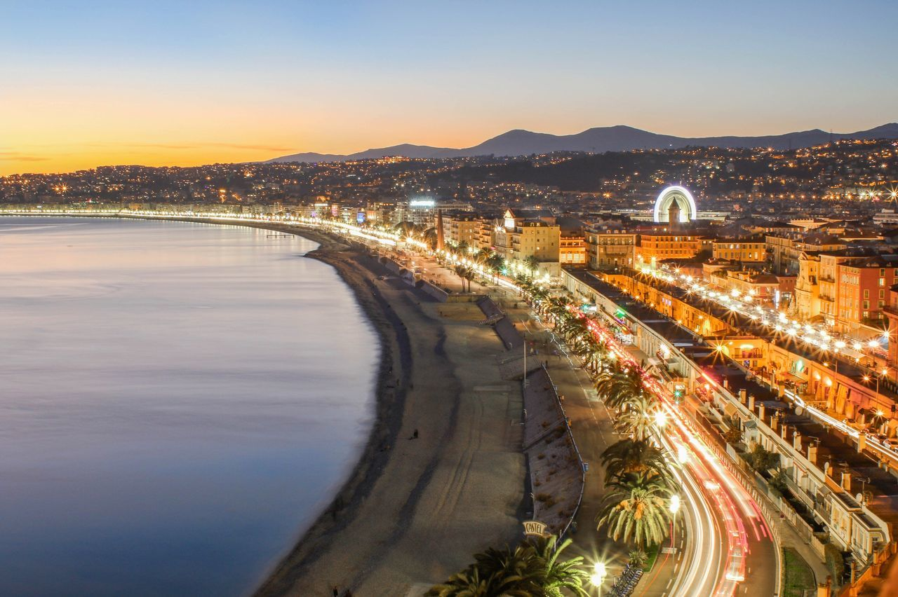 City Cityscapes French Nice Night Nightphotography Long Exposure Photography Photo
