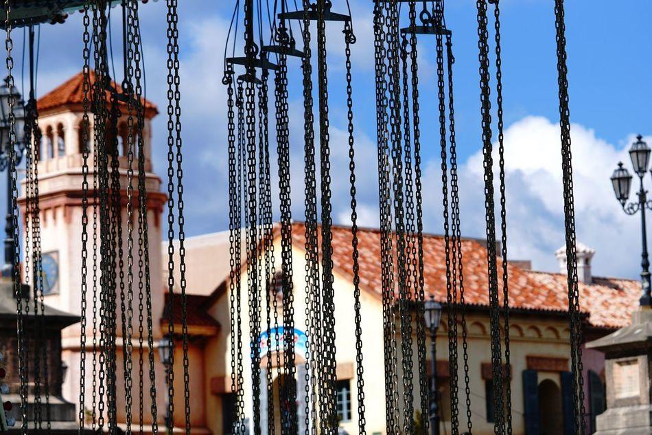鎖 Sky Architecture No People α6300 Relaxing Amusement Park Ride Enjoying Life EyeEm Best Shots 遊園地 Chain Swing Ride