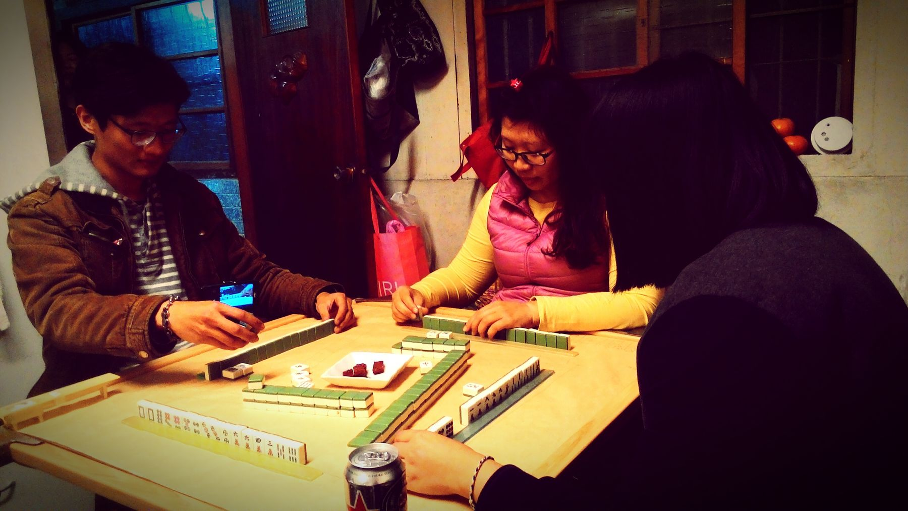 We Are Family Mahjong Chinese New Year I ❤ Beer Enjoying Life Sister Cousin Winning People Love