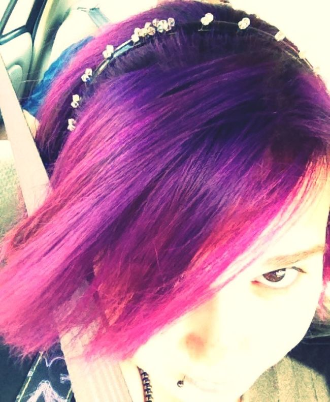 Capturing Freedom Purple Hair Brown Eyes Purple Hair Dont Care ExpressYourself Freedom To Be Me Freedom To Express