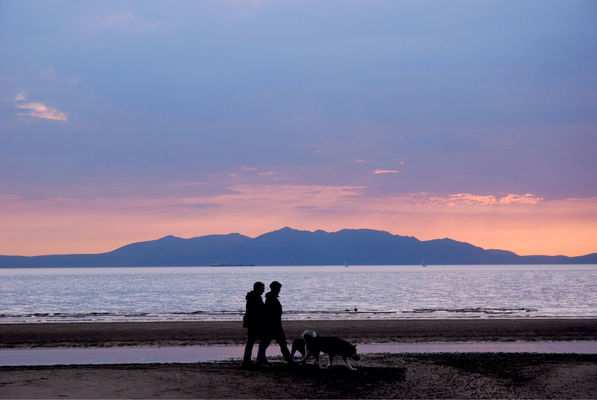 Silhouette at Ayrshire by Gillian Downie-Photography