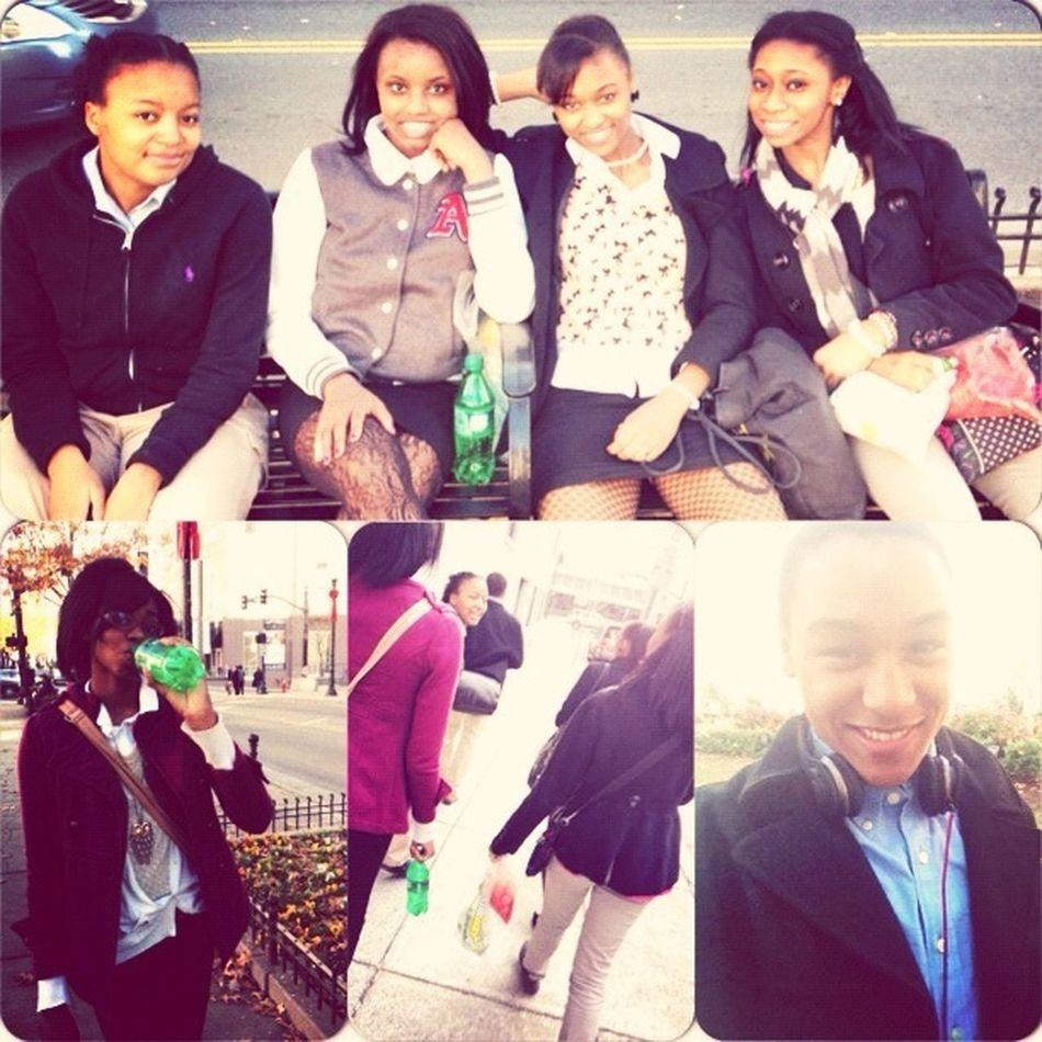 Me, Tahlier, MaryAnn, Christina, Jenice & Zack today downtown!!