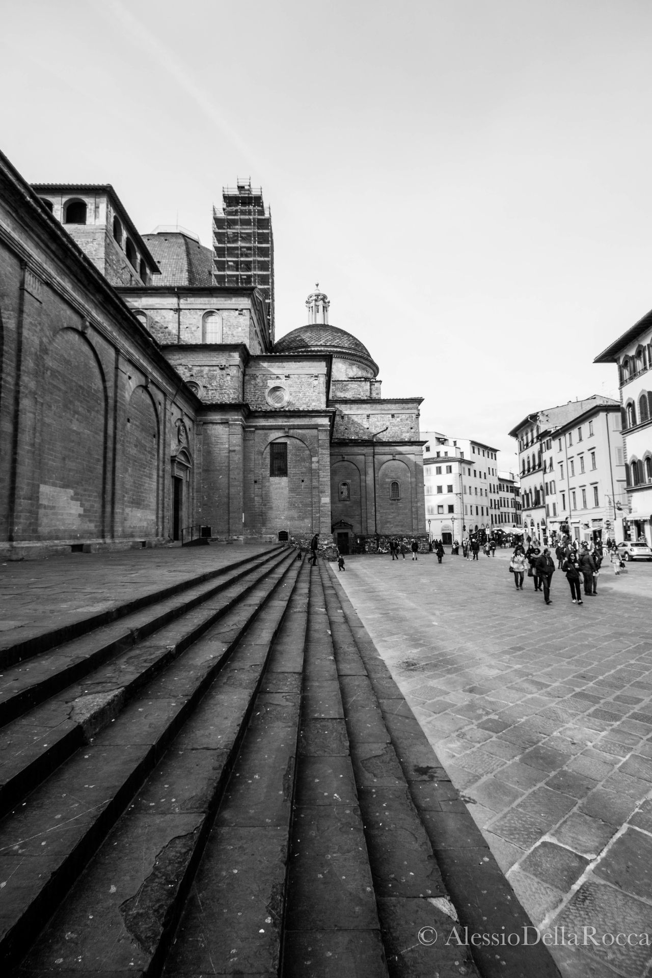 Architecture Basilicadisanlorenzo Blackandwhite Building Exterior Built Structure City Directions Florence Florence Italy Outdoors Stairways Street Streetphotography