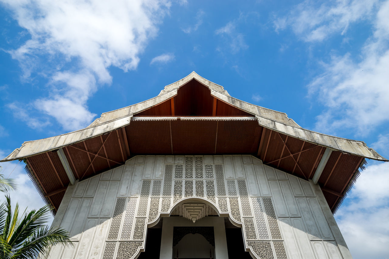 Low Angle View Of Terengganu State Museum Against Sky