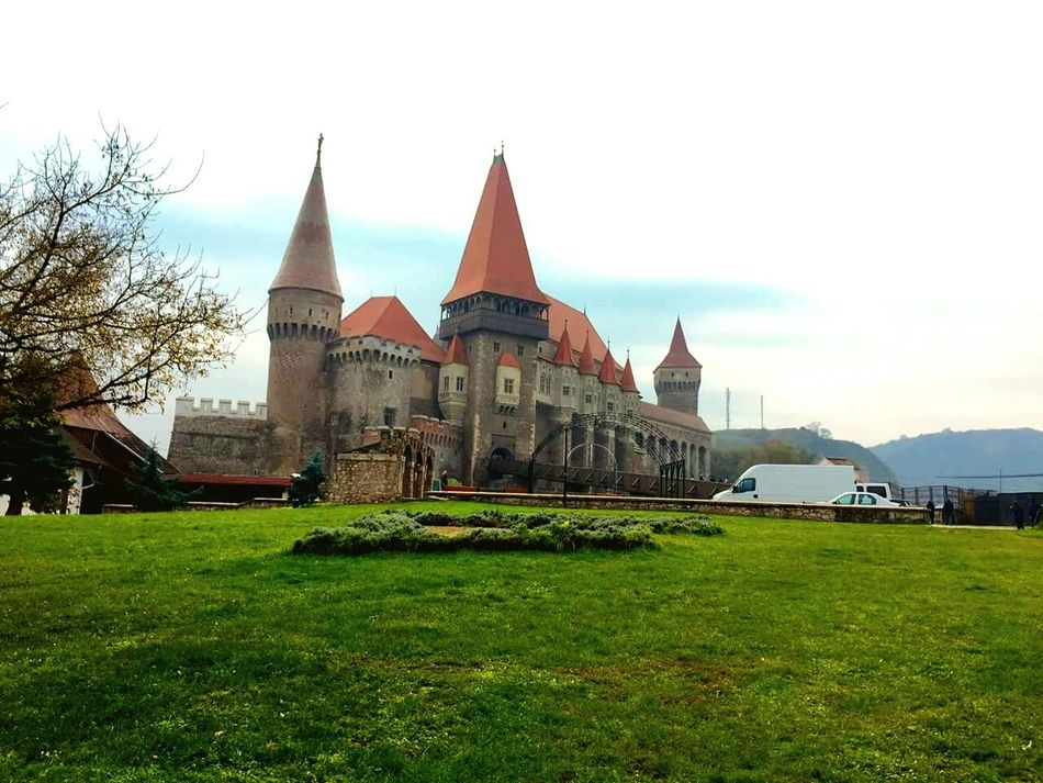 Outside view of it all. Very nice looking. Architecture Travel Destinations Travel Sky Grass Tourism Building Exterior Vacations History Cloud - Sky Outdoors Architecture Built Structure Day Beautiful Castles In Europe Beautiful Castle Old Buildings Castle Castles Castle Walls Castle View  Green Nature