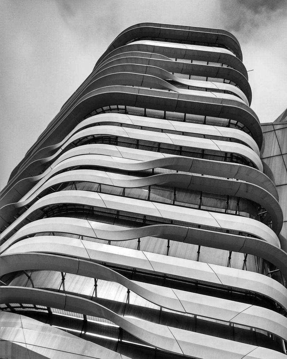 Architecture_collection Architecture ArchiTexture Zaha Hadid Building Architecturephotography Blackandwhite Photography Black And White HongKong City The Architect - 2016 EyeEm Awards Monochrome Photography