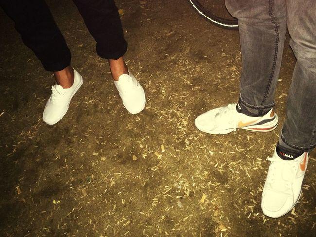 Walking Around out] walking around Shoes Vans Hanging Out Nike