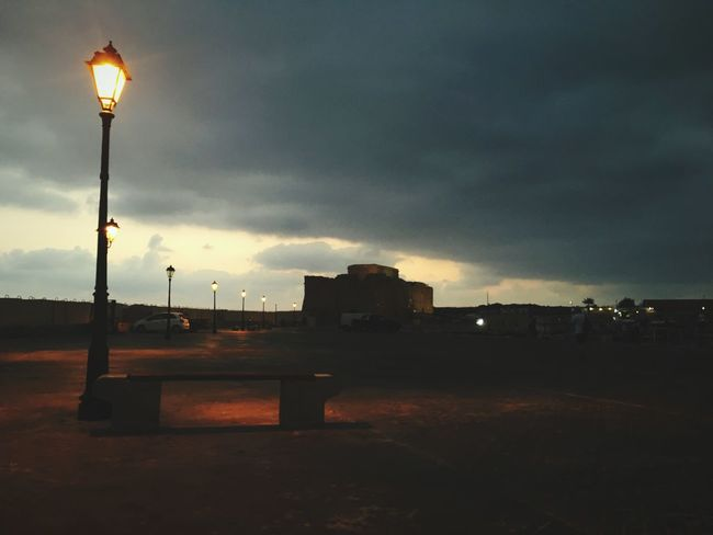Street Light Dark Sky Power In Nature