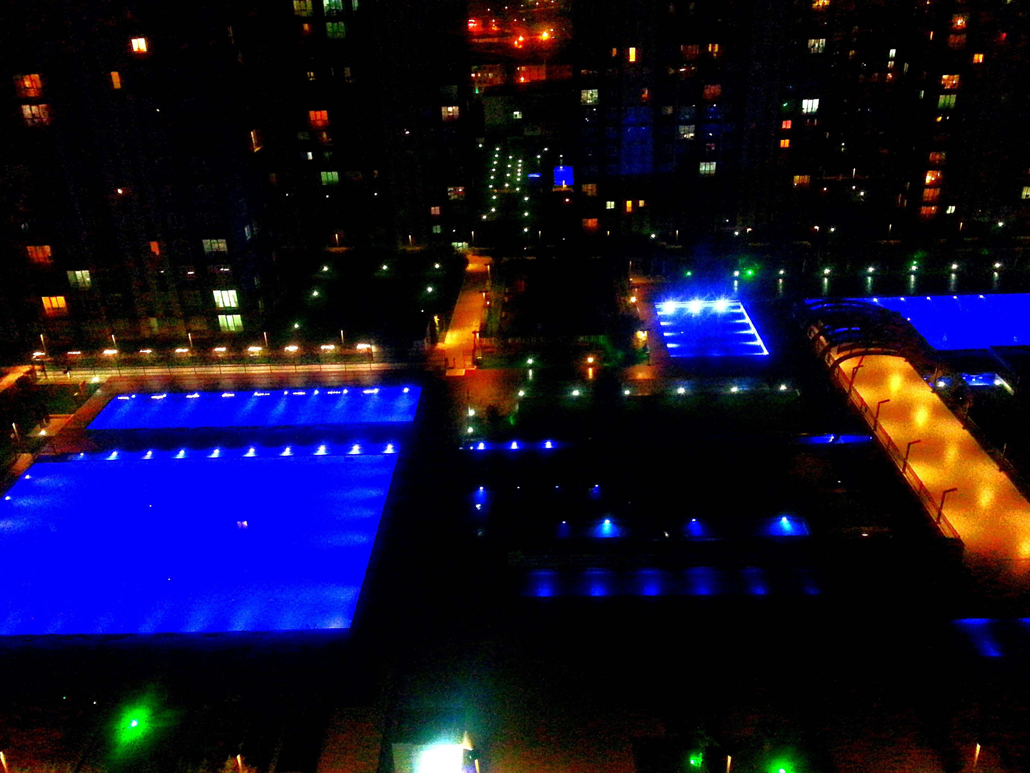 night, illuminated, no people, outdoors