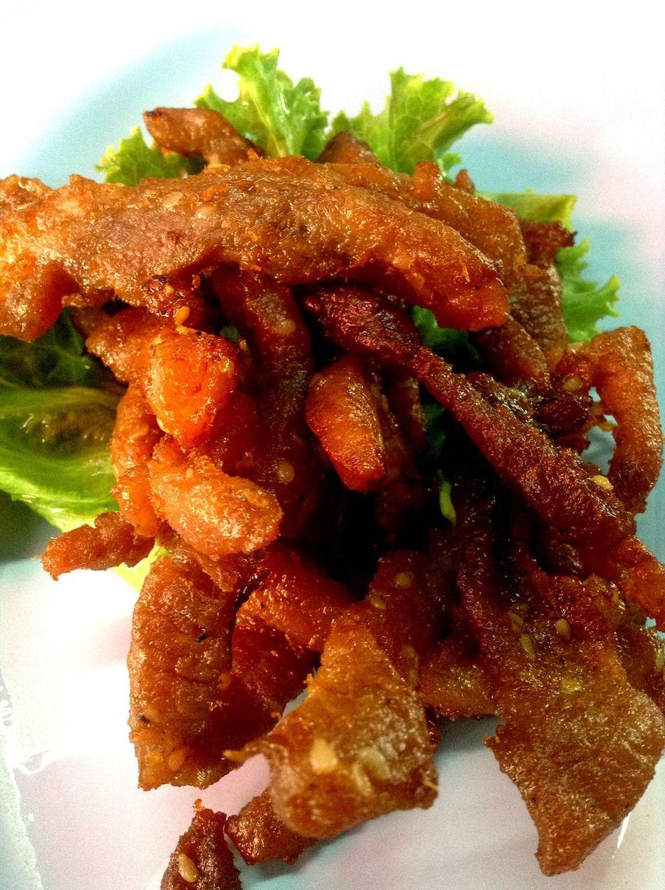 NoEditNoFilter Fried Pork Thai Food Food Tasty Delicious We ❤️ Thailand Hello World Eye Em Around The World Foodlover