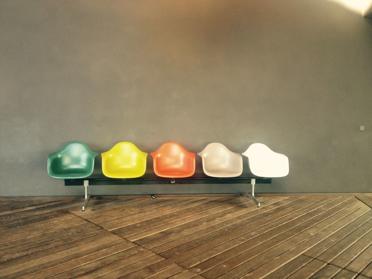 Bright Chairs Colors Design Eams Indoors  No People Scenics Vitra Haus