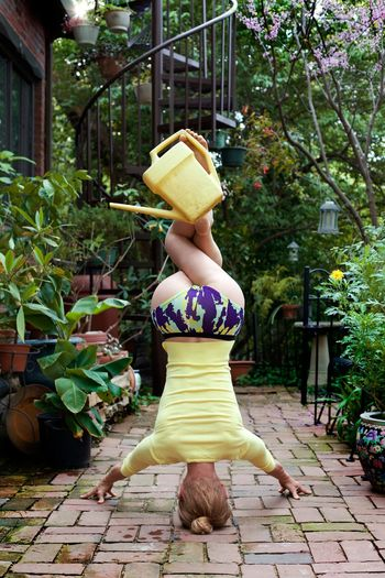 Protecting Where We Play Yoga Wateringcan Spiral Staircase Plants And Flowers Headstand