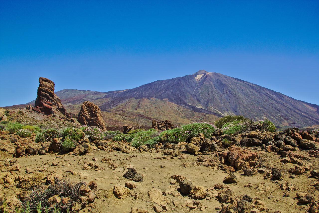 Volcano Teide National Park Teide Volcano Tenerife Tenerife Island Teneriffa Landscape No People Mountain Rocks