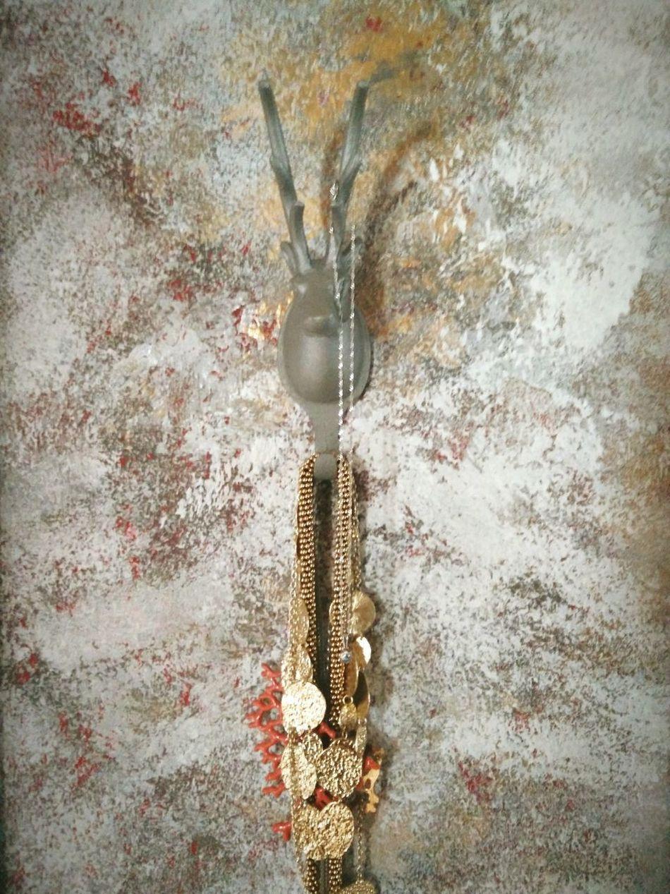 Wall Accessoires Deerhead Colors Gold