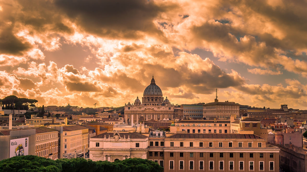 Architecture Building Exterior City Cityscape Cloud - Sky Day Dome Dusk Government History No People Outdoors Relegion Religion And Tradition Sky Sunset Travel Travel Destinations Vatican