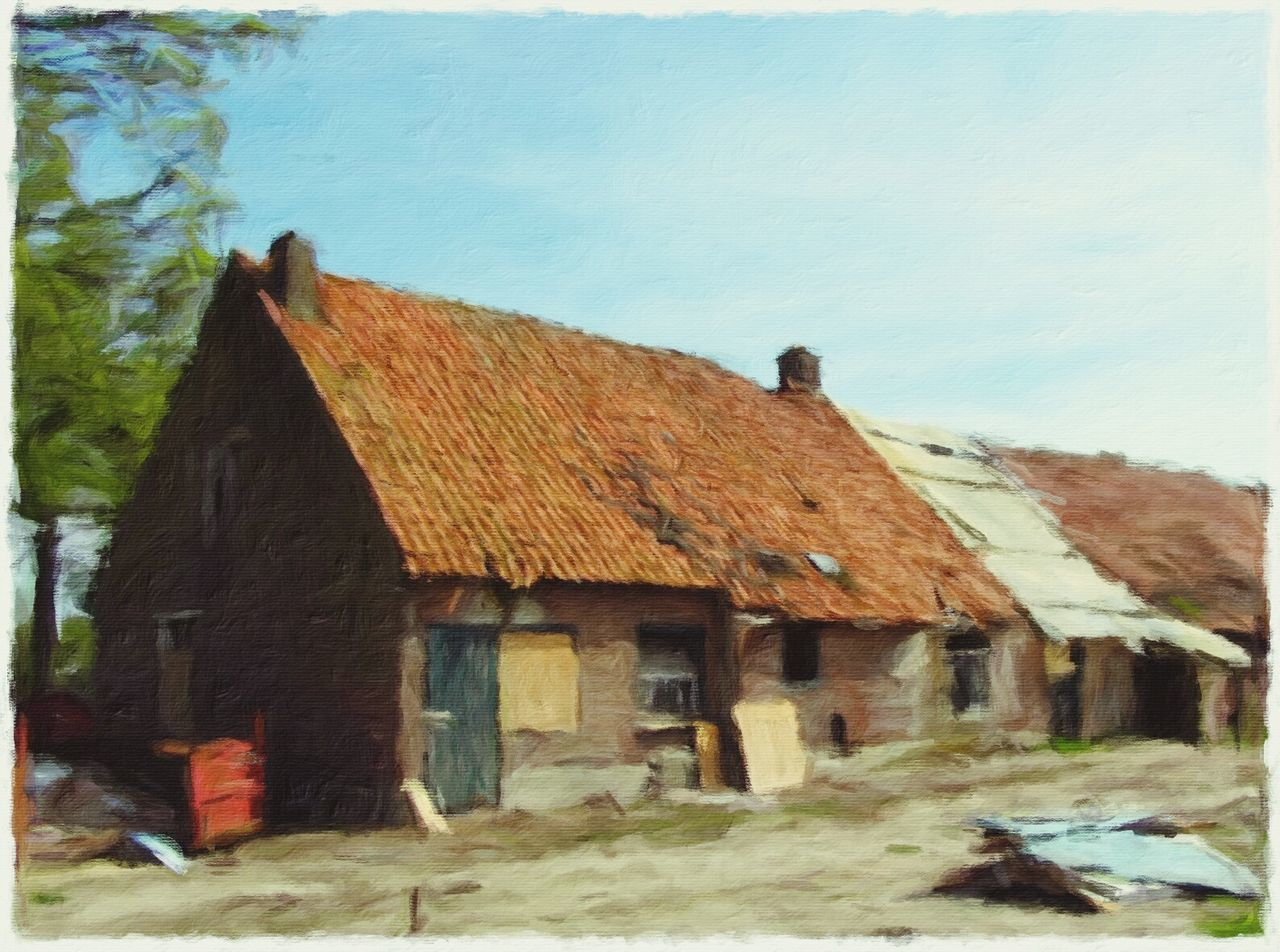 Delapidation Old Farm Jixipix Impresso NEM Painterly