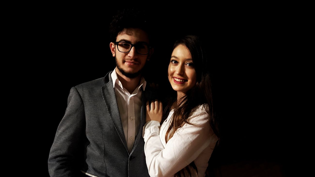 Portrait Beard Two People Beautiful People Looking At Camera Long Hair Men Young Adult Adults Only Studio Shot Handsome People Looking Fashion Beautiful Woman Business Togetherness Night Adult Eyeglasses