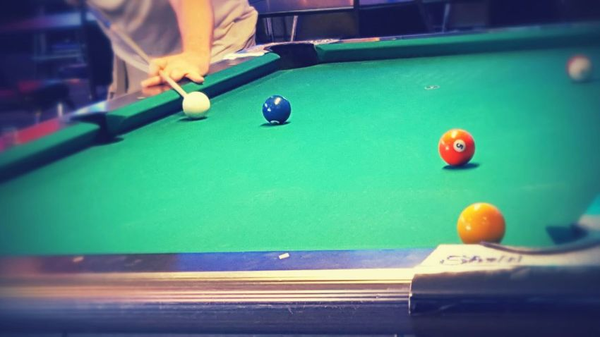 Billiards Shooting Pool Making A Shot The Moment - 2015 EyeEm AwardsCue Balls Cue Stick Color Palette In Motion