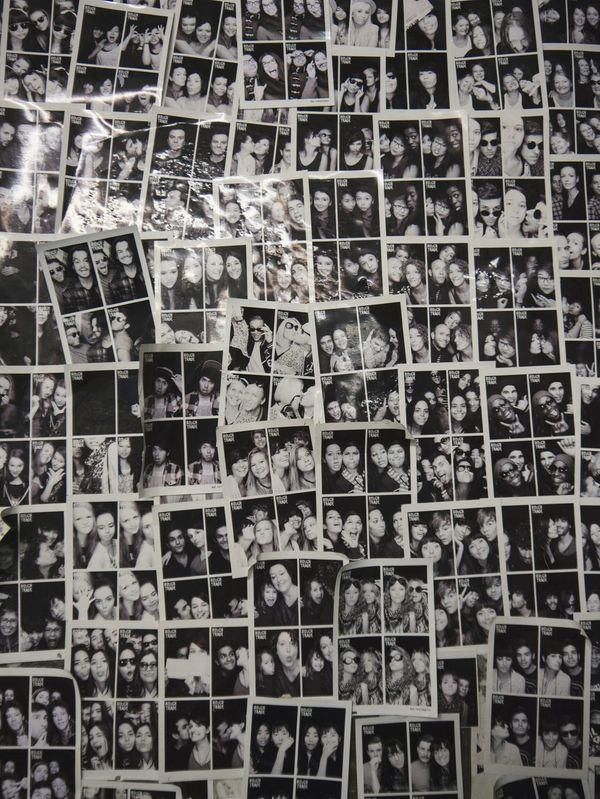 Rough Trade London Photowall Black And White Pattern Pieces People