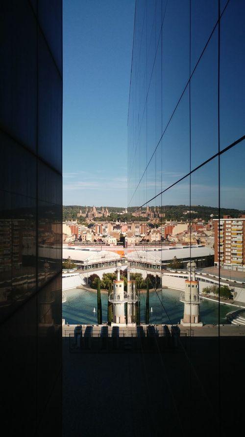 Barceló Barcelona, Spain Architecture Built Structure Reflection Building Exterior Sky Clear Sky