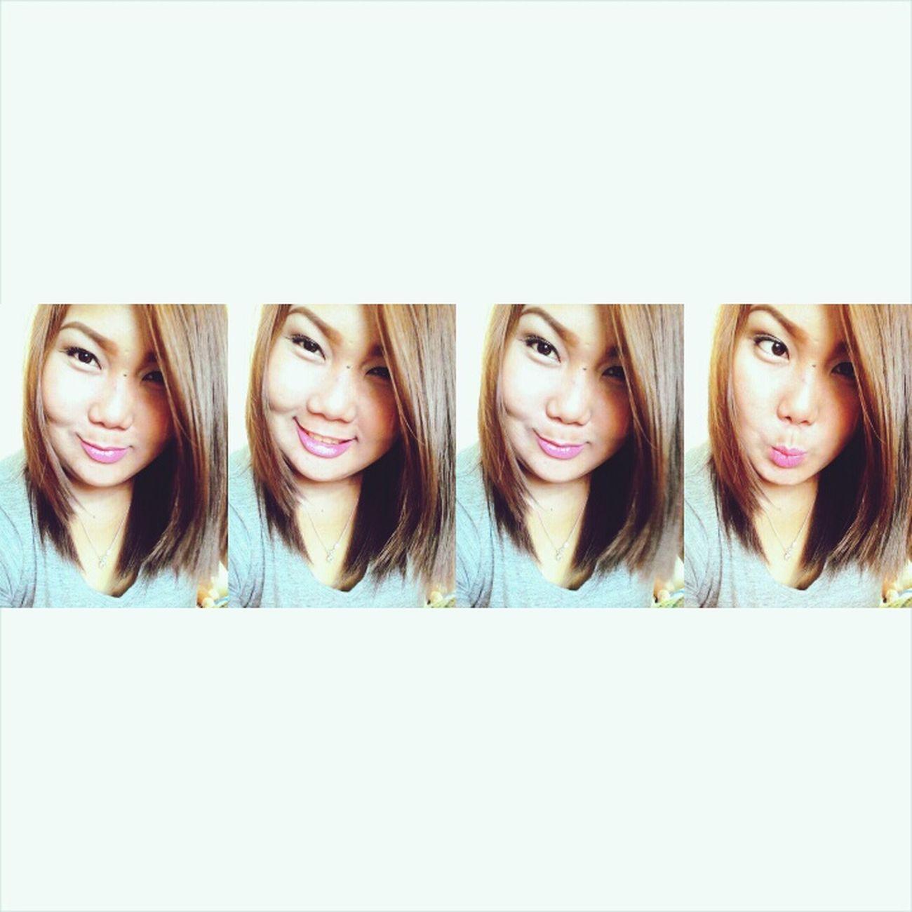 Short Hair Pretty Girl Just Smile  Eyes Smalleyes Blondes Cuteeee♥♡♥